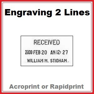 Engraving for Time & Date Stamp   2 Lines