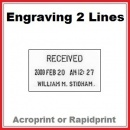 Engraving for Time & Date Stamp | 2 Lines