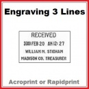 Engraving for Time & Date Stamp | 3 Lines
