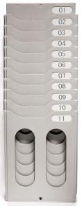 "10 Card Expanding Time Card Rack 16""H x 2-1/4""D x 5-1/2""W"