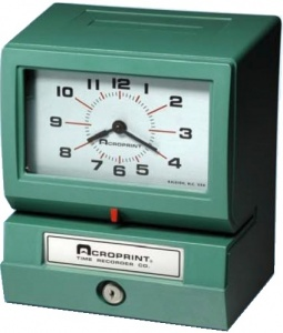 Acroprint Model 150   Punch Clock