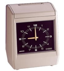 Amano Ex-9000/9035 Power Reserve (optional)   Time Recorder