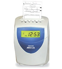 Amano Mrx-35 Amano Time Clock /w 2 Ribbons, 50 Timecards
