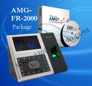 Facial Recognition FR-2000 Biometric Time Clock | AMG Software Package