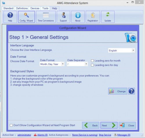 Amg attendance software small business for Grow room software