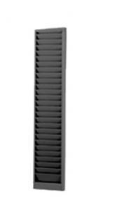 Employee Badge Metal Rack - Model 190H