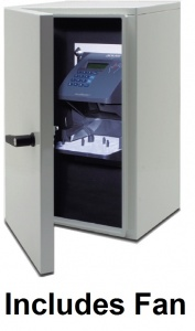 Weather Resistant Enclosure with Fan for HandPunch GT 400 Time Clock