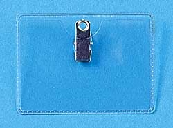 Clip On Horizontal ID Card Holder