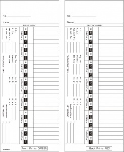 time card acroprint 125 bi weekly double sided timecard ama5400 box of 1000 - Weekly Time Card