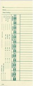 Time Card Lathem 1500E Bi-Weekly Double Sided Timecard J7R-2 Box of 1000